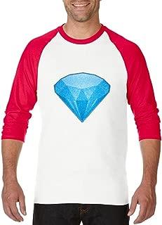 Blue Diamond Emoji Unisex Raglan Sleeve Baseball T-Shirt
