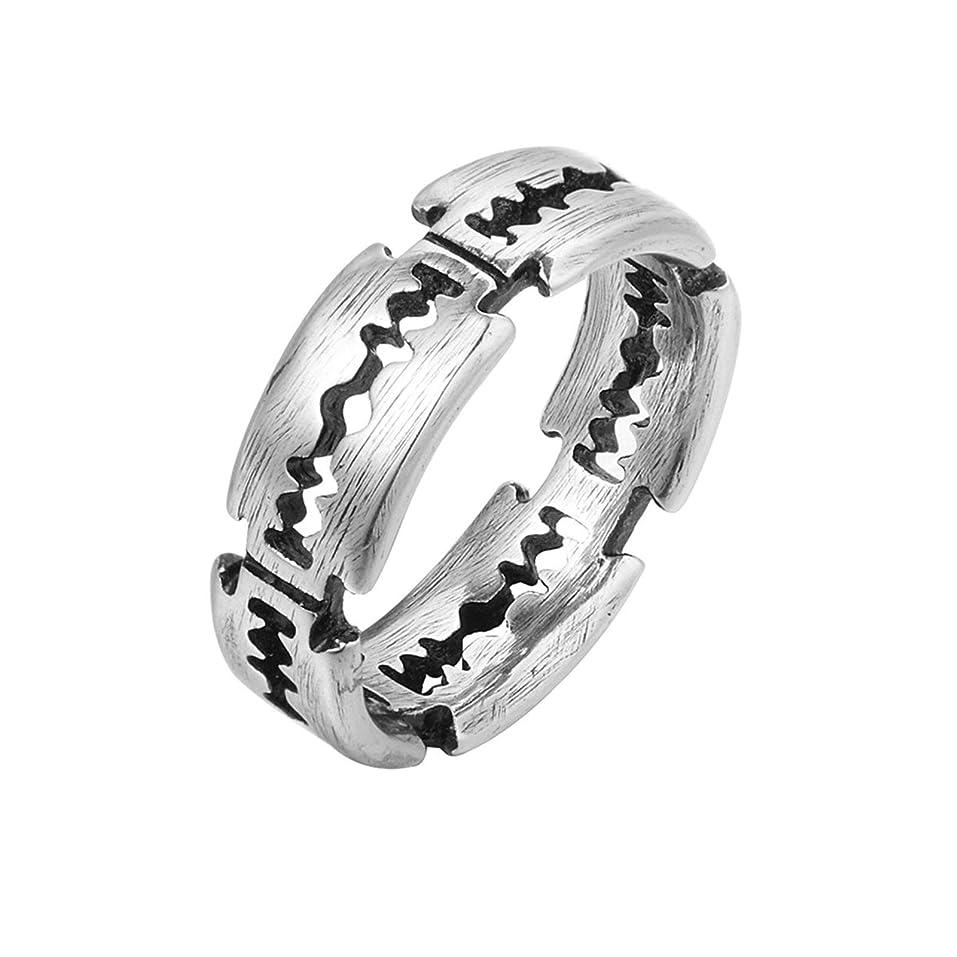 モードリン展開する各Ianlex ステンレスリング 指輪 メンズ 刃 人気 メンズリング サイズ:19 (シルバー)