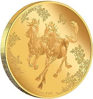 2015 Sovereign Nation of Niue, a Prueba de 9999 Oro Puro Feng Shui – Caballos, Mintage Limitado: 1 de 888 Ever Minted