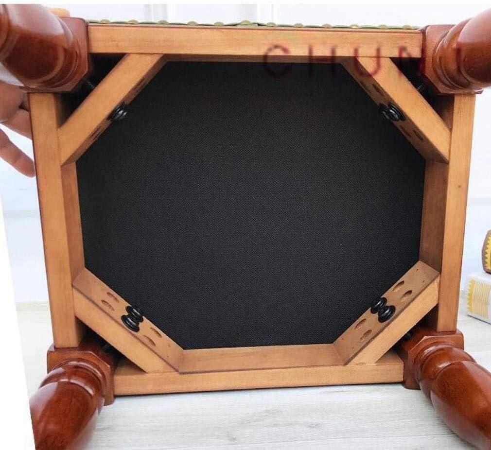 Petit Pied Tabouret Chaise, rembourré en Bois et Cuir capitonné Siège Couch Capacité portante 150 kg 922 (Color : I) J
