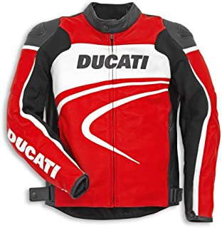 Ducati 981028354 Sport C2 Leather Riding Jacket - Red - Size 54