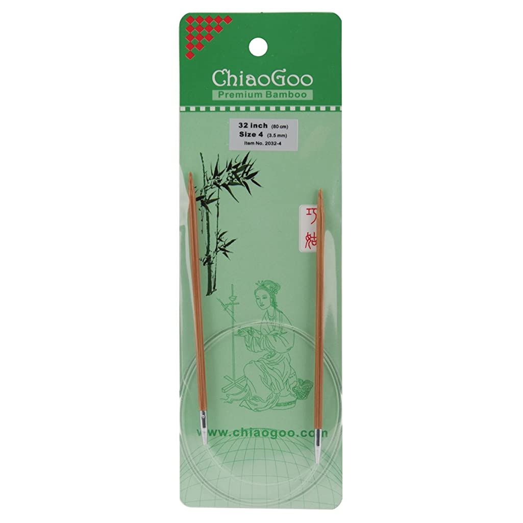 ChiaoGoo Bamboo Circular 32-Inch Knitting Needles, Size 4