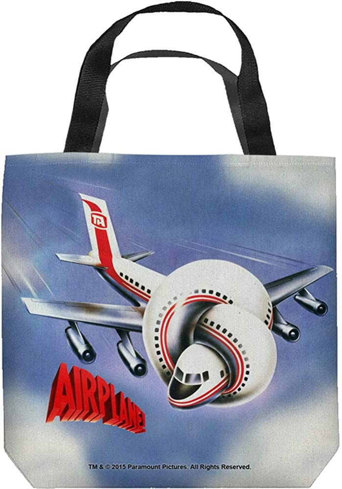 Airplane! 1980 Satirical Comedy Movie Official Poster Tote Bag