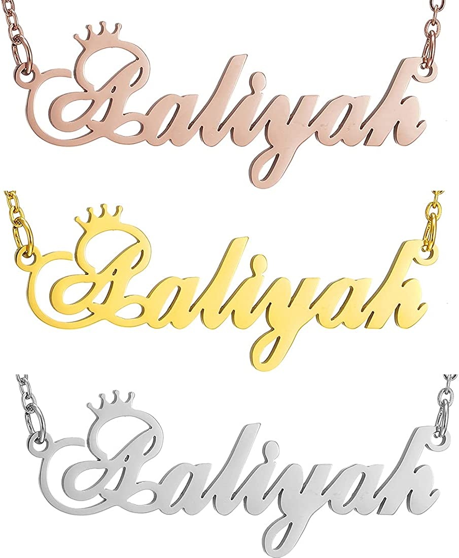 Elegant SKQIR Gold Custom Women Name Necklace OFFer Personalized Customized C