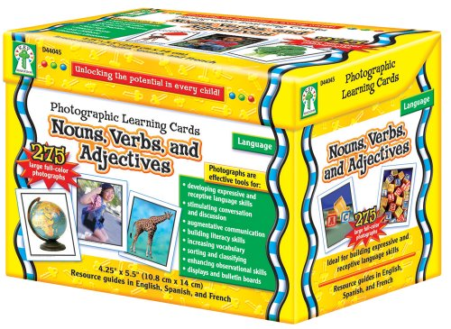 Photographic Learning Cards Noun...
