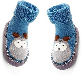 Aisoway, Los niños del calcetín Botas de dibujos animados antideslizante suela de goma de la media para el bebé