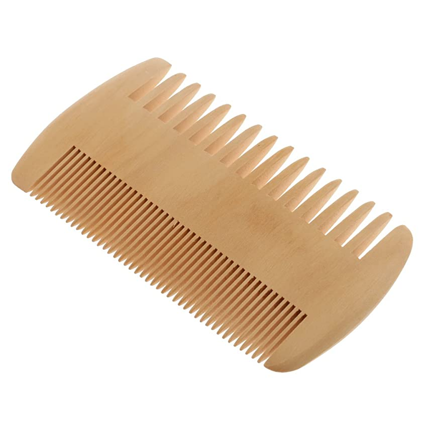 ジュースあいさつピースToygogo ヘアコーム 木製コーム 木製櫛 ポケットコーム マッサージの櫛 帯電防止 2倍 密度の歯