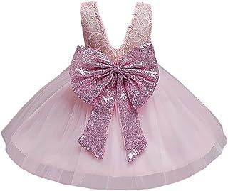 b2667f45b JiaDuo Baby Girl Lace Mesh Tutu Dress Sequin Bow Toddler Princess Gown