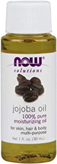NOW Solutions, Jojoba Oil, 100% Pure Moisturizing, Multi-Purpose Oil for Face, Hair and Body, 1-Ounce