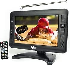 Tyler TTV704-9 Portable Widescreen LCD TV with Detachable Antennas, USB/SD Card Slot, Built in Digital Tuner, and AV Inputs