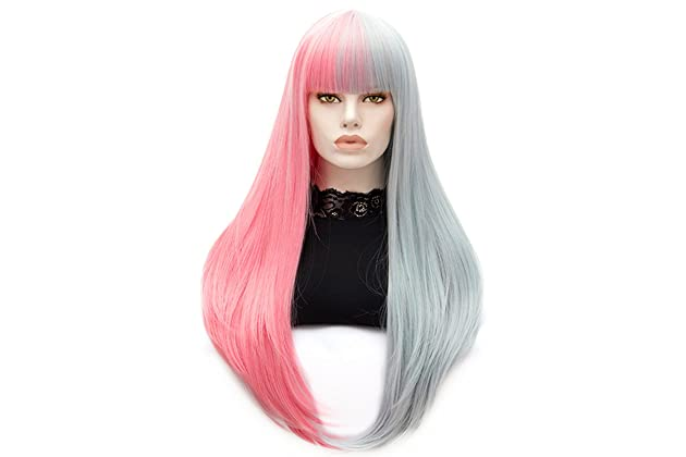 Women Wigs Long Curly Hair Wigs for Women Full Synthetic Wig with Wig Cap 08e3e1f163