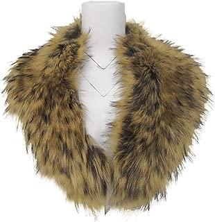 Faux Fur Collar Women's Neck Warmer Scarf Wrap,Shawl for Winter Coat