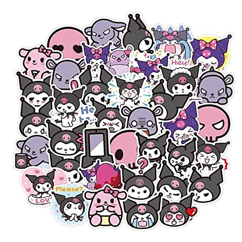 DSSK 50 Piezas de Dibujos Animados Lindo Anime Cool Lomi Pegatina Decorativa monopatín Emoji Pegatinas móvil Taza de Agua portátil Pegatinas Decorativas Impermeables