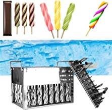 FKou 40 pcs Stainless Steel Ice Cream Sticks Popsicle Mold Summer Holder Molds Home DIY Ice Lolly Mould Ice Mould