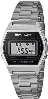 Yuanhua Multi-Functional Sports Watch with Zinc Alloy Case Square Dial Waterproof Luminous Calendar Electronic Wrist Watch for Men