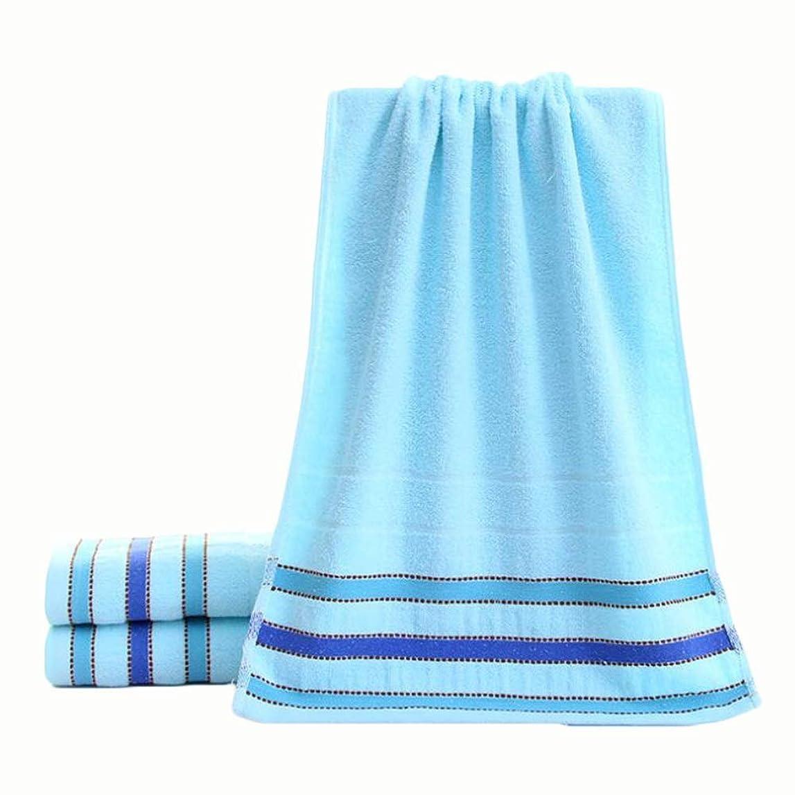 寝てるクレタ抜け目がないCXUNKK 2PCS / LOT家庭肥厚綿フェイスタオル大人カップル柔らかい吸収性タオル (Color : Blue)
