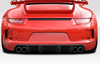 Extreme Dimensions Duraflex Replacement for 2012-2015 Porsche 911 Carrera 991 Eros GT3 Look Rear Bumper (Includes reflectors) - 2 Piece