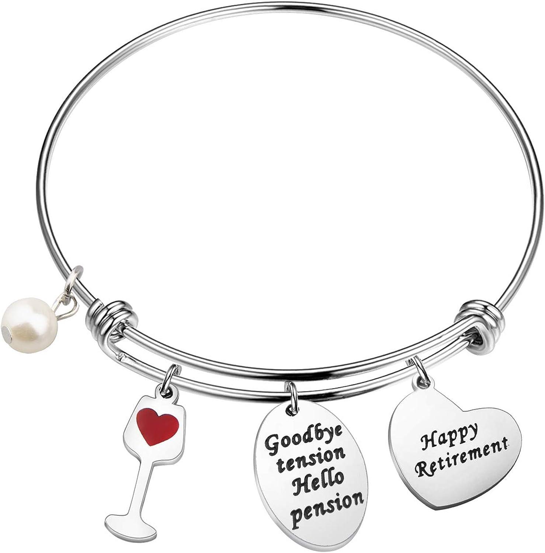 40% OFF Cheap Deluxe Sale MAOFAED Retirement Bracelet Happy Jewelry Wine f Gift