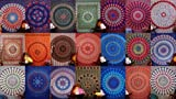 indischen Wandteppichen Wandteppich, pyshedlic Mandala, Bettwäsche Tagesdecke Tagesdecke, Picknick Strand Tabelle, Tischdecke, Ethnic Dekorative, zum Aufhängen, Schlafsaal, Decor Mandala Tapisserie Indische Baumwolle Tagesdecke Decor Werfen, 50Großhandel, 218,4x 238,8cm. Von bhagyoday