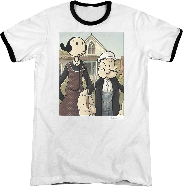 ea329008 Popeye - Mens Mens Mens Popeye Gothic Ringer T-Shirt 17af98 - kbclh ...