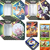 Pack Pokemon Caja de Metal Aleatoria + 3 Reverse Holo Aleatorios + 1 Carta V Aleatoria + 100 Cartas Inglesas
