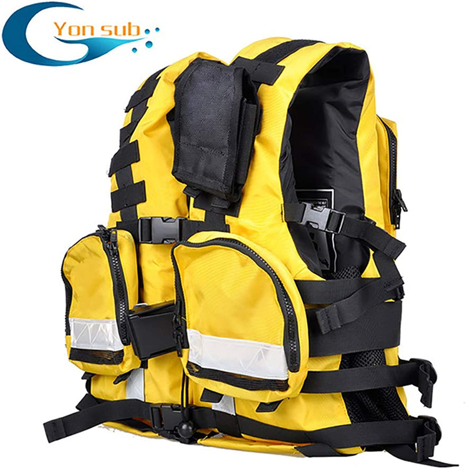 blueee Sky Life Jacket Flood Control Tactical Vest Male and Female Adult Rescue Team Rescue Rescue Life Vest