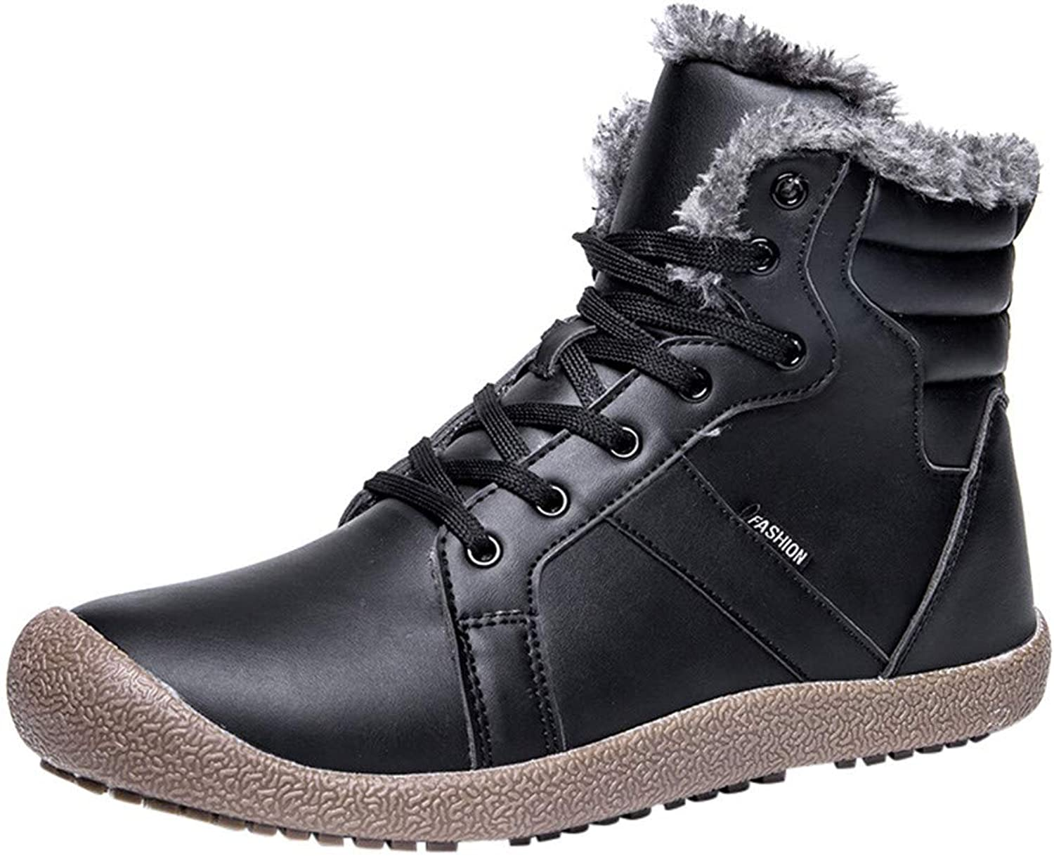 Goodtrade8 Clearance Women Winter Warm Snwo Boots Leather Running shoes Couple Sneakers Outdoor Skiing