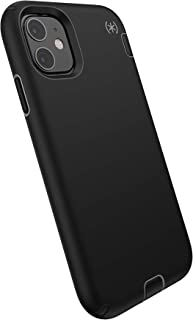 Speck Products Compatible Phone Case for Apple iPhone 11, Presidio Sport Case, Black/Gunmetal Grey/Black