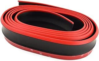 runmade 98 inches Universal Front Bumper Spoiler Bumper Lip Splitter Body Spoiler Valance Chin (Black + Red)
