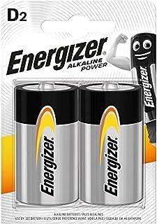 Energizer LR20 D Mono Alkaline Power Battery (Pack of 2)