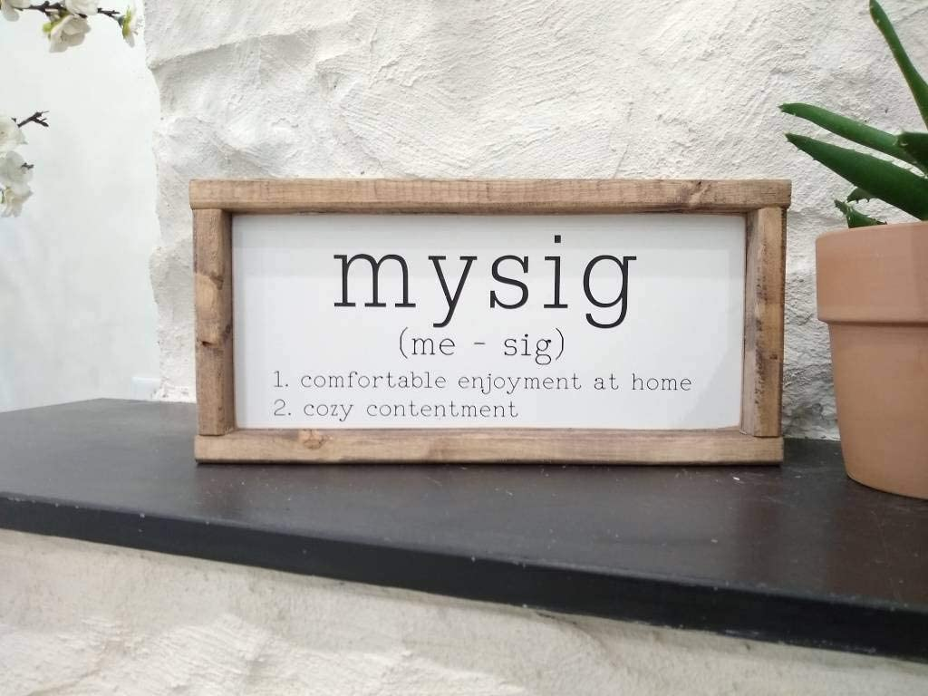 Tamengi Mysig Sign - Swedish, Definition, Painted, Sweden, Wall Decor, Home Living, Scandinavian Decor, Viking, Cozy, Gift, Denmark, Norway, Gift, 8*12in