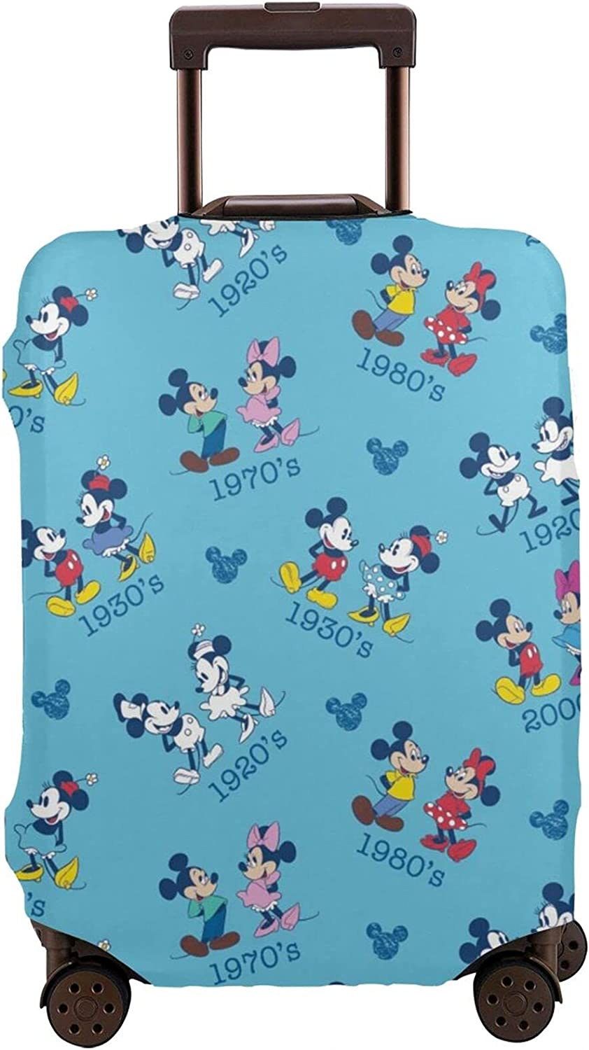 Travel Manufacturer regenerated product Max 56% OFF Luggage Cover Mickey Mouse cute Suitcase Protective Funny