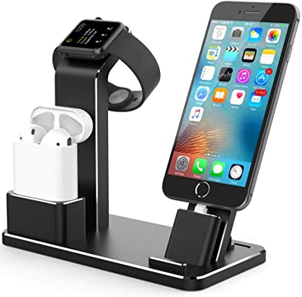 Charging Stand,Autoor 4-in-1 Charging Stand Mobile Phone,Charging Dock Holder Adjustable Apple Watch Charging Stand