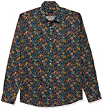 Antony Morato Camicia Ml,abbottonatura A Vista Placchetta Polso Camisa Casual, Multicolor (Multicolor 6002), X-Small (Talla del Fabricante: 44) para Hombre