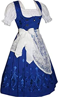 blue and white dirndl