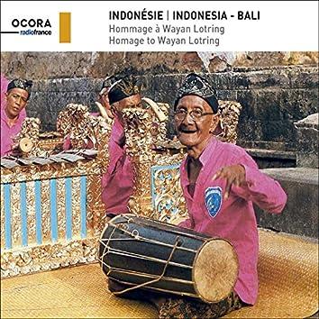 Indonésie - Bali, hommage à Wayan Lotring