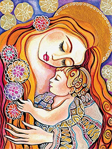 Diamond Art Painting Kits for Kids Full Drill Large 5D Diamond Painting Girl 60x90cm/24x36in Square Drill Crystal Rhinestone DIY Diamond Embroidery Cross Stitch Arts Craft for Home Wall Decor A5058