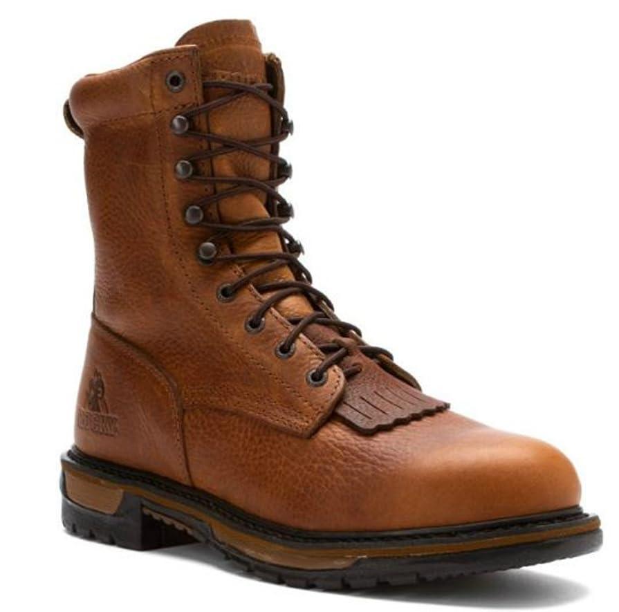 ブリッジ織機平行[Rocky] ロッキーMen 's 11 Ride Branson Roper Round Toe Western boots-2732