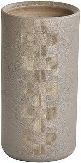 タンスのゲン 信楽焼き 傘立て 市松彫 傘立 陶器 日本製 22.5x22×高さ42.5cm 25700008 00 【46845】