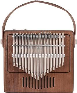 Bulufree Tom - Piano de 17 teclas Kalimba Mbira Sanza, madera maciza de nogal con bolsa para el transporte, notas musicale...