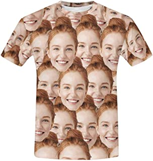 Custom Face Seamless Photo T Shirt for Men Design Your Own t-Shirts