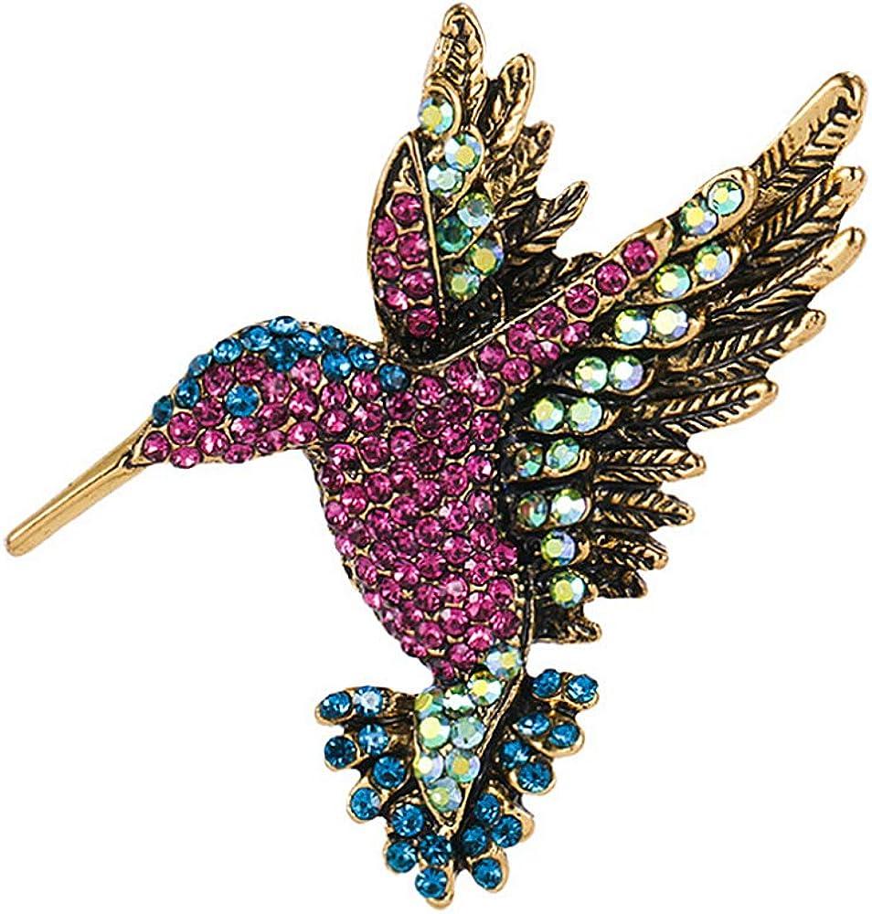 FFJGO Vintage Fashion Rhinestones Brooch Pin for Girl Women Fashion Jewelry