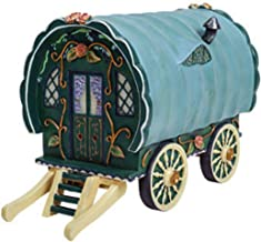 TM Miracle Store Fairy Garden Dollhouse Lawn Yard Decoration Resin Miniature Ornament Green Gypsy Caravan