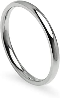 Silverline Jewelry 2mm Stainless Steel Prime Comfort Fit Unisex Wedding Band Ring, 5-13 w/Gift Pouch