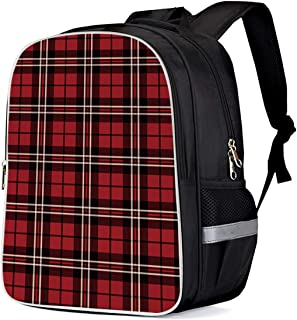 Cool 3D Red Plaid English Kilt Material Pattern Scotland Children School Book Bag Kids Printing Backpacks