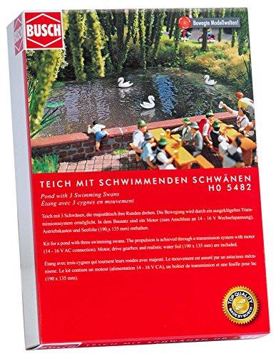 Busch 5482 - Teich mit schwimmenden Schwänen, Fahrzeug