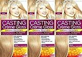 Sechs Packungen von L 'Oréal Paris Casting Creme Gloss Haar Farbe, Licht Iced Blonde Nr. 1010