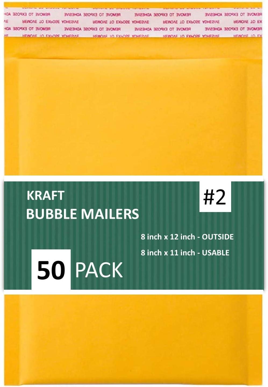Sales4Less KBMVR_8.5X12-50#2 Kraft Bubble Shipping Elegant Envelo Recommendation Padded