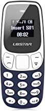 L8star BM10 Worlds Smallest Phone 2 in 1 Mini Phone Unlocked GSM with Hands Free Bluetooth Dialer Bluetooth Headphone Dual SIM Card GSM (Blue)