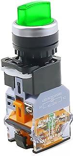 LLMXFC LA38-11XD / 2 Rotary Push-knop Schakelaar met lamp 22mm 2 Positie 3 Positie-vergrendeling LED knop schakelt multico...